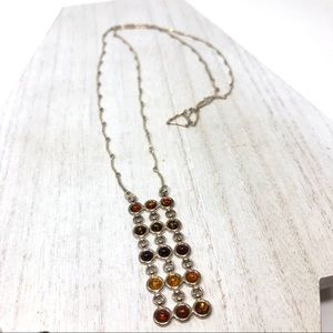 🆕 Baltic Amber sterling pendant nklce, 13.8g